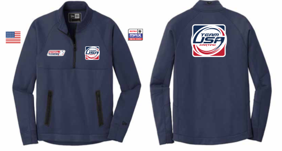 TEAM USA 1/4 JERZEES ZIP FLEECE YOUTH