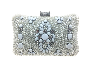 Aria - Beth Jordan bag, pearls, beads bejewelled clutch bag