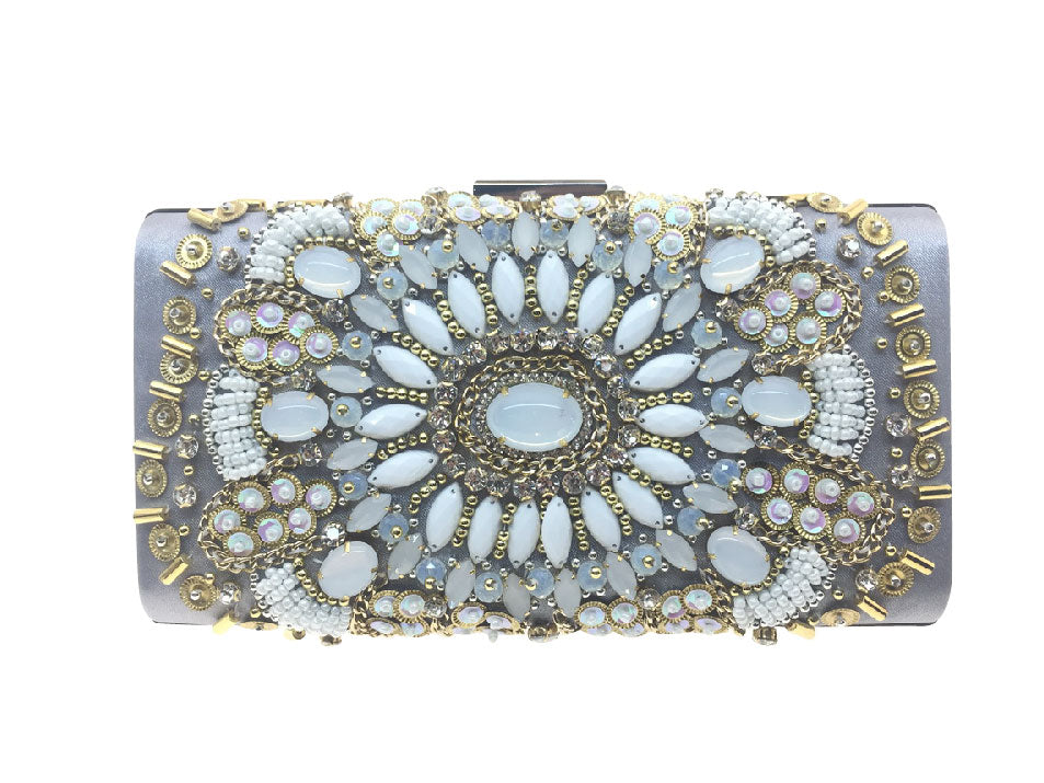 Jessica - Beth Jordan bag,  diamante, beaded bejewelled clutch bag