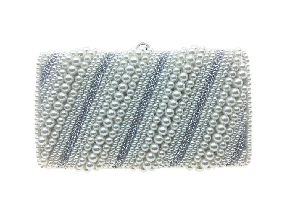 Grace - Beth Jordan bag, pearls, diamante bejewelled clutch bag