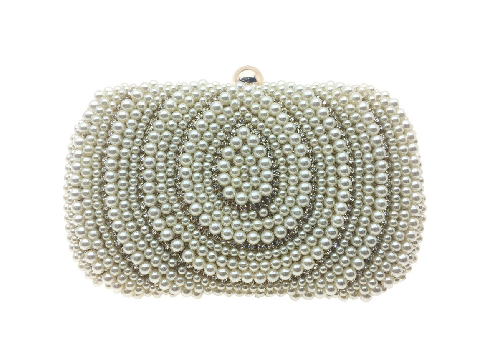 Alice - Beth Jordan bag, pearls, diamante bejewelled clutch bag