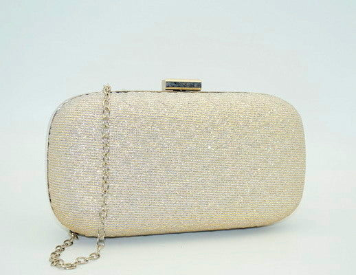 Summer - soft silver metallic quilted clutch bag, Beth Jordan