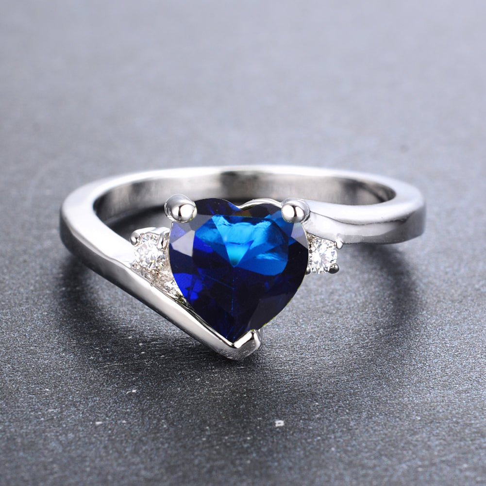 jewelers gray white band jewelry shaped gold stacking kloiber item sapphire ring pear