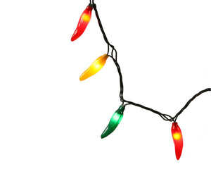 Chili Pepper Lights, Fiesta Colors (Red, Yellow, Green)