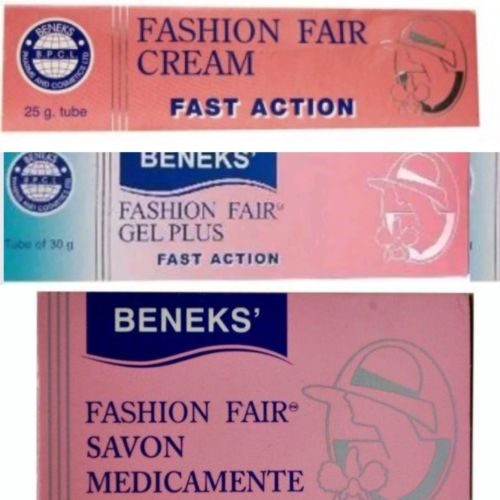 BENEKS FASHION FAIR COMBO PACK ( 1 Soap, 1 Cream, 1 Gel) by reeanne.com