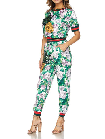 Stacy Green printed pants sets
