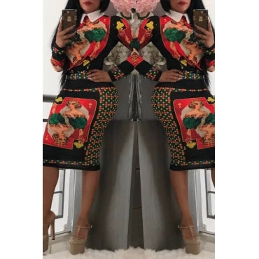 Gabby Printed Skirt And Blouse Matching set By Reeanne