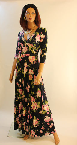 Patty 3/4 sleeve  maxi dress