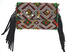 Load image into Gallery viewer, Moroccan Fringe Crossbody/Clutch Bag - Black