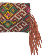 Load image into Gallery viewer, Moroccan Fringe Crossbody/Clutch Bag - Orange