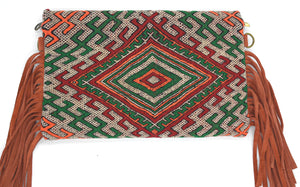 Moroccan Fringe Crossbody/Clutch Bag - Orange