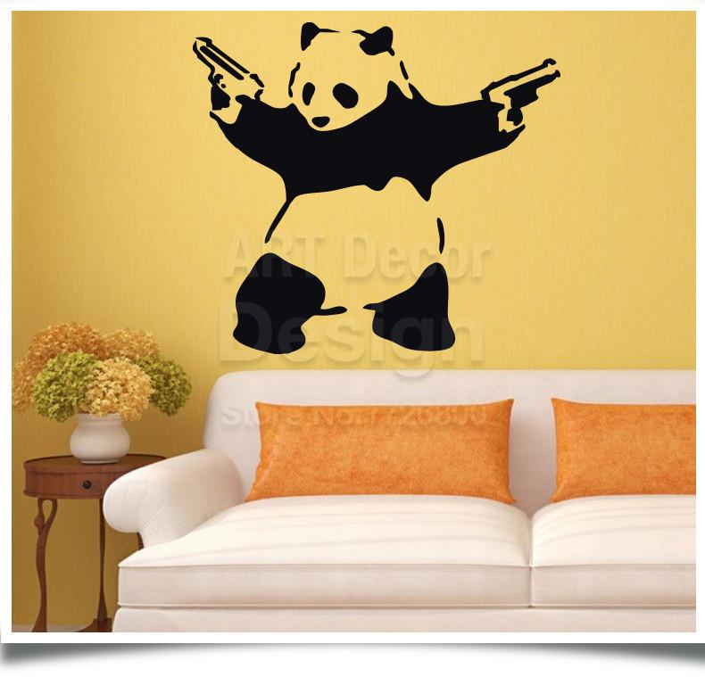 One Crazy Panda Wall Decal – Decal Obsession