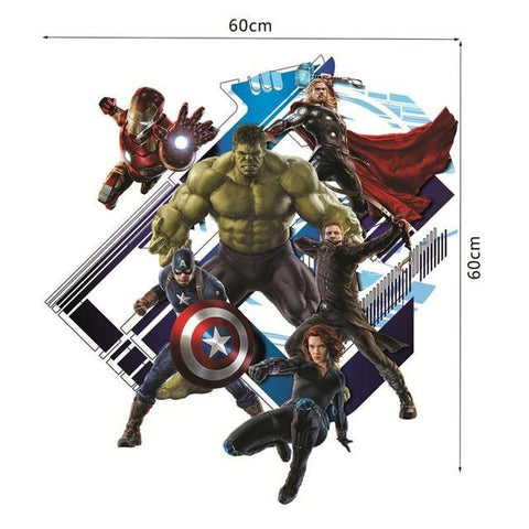 [Removable Wall Decals] - Decal Obsession  sc 1 st  Decal Obsession & The Avengers Wall Decal 3D u2013 Decal Obsession