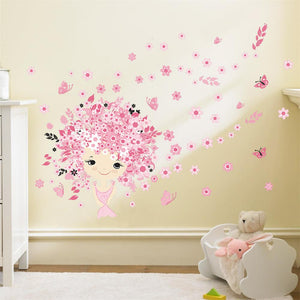 Cute Mermaid Decal For Girls Room