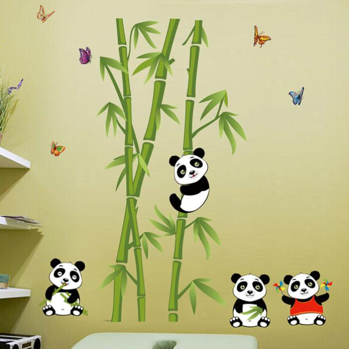 ... [Pandas And Bamboo Wall Decal]   Decal Obsession