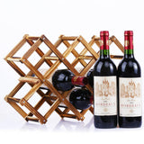 Decorative Wood Wine Rack
