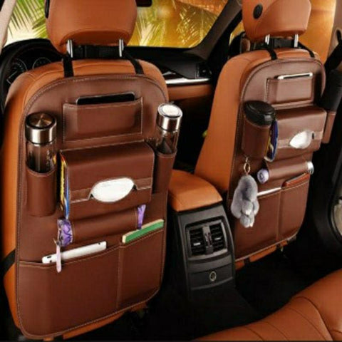 Back Seat Organizer - in Leather