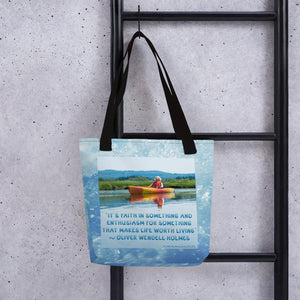 """Faith In Something"" Tote bag"