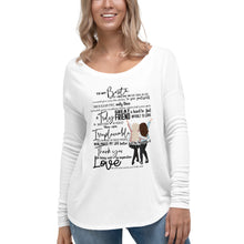 To My Bestie Ladies' Long Sleeve Tee