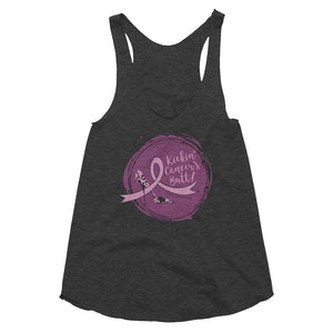 Kickin' Cancer's Butt Women's Tri-Blend Racerback Tank