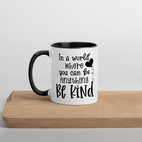 Be Kind Mug with Color Inside