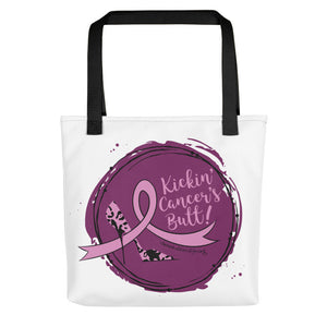 Kickin' Cancer's Butt Tote bag