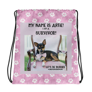 "Artie - ""Let's Be Buddies"" Drawstring bag"