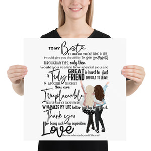 To My Bestie Photo paper poster