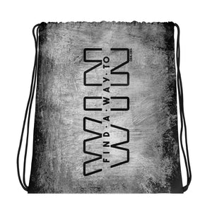 Find a Way to WIN Drawstring bag