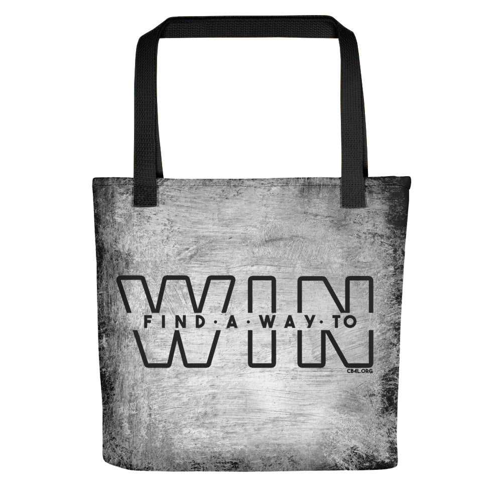 Find a Way to WIN Grunge Style Tote bag