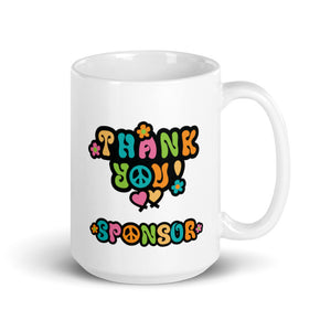 Thank you Sponsor!  The Tour of Love with CB4L.org Logo 2020 Mug