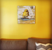 Chubby Chick Arturo by Doug Belding on wall
