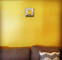 Chubby Chick Ricardo by Doug Belding on wall