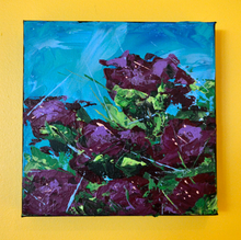 Magenta Rhododendrons by Doug Belding on the wall.