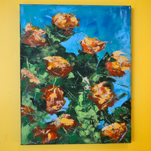 Tangerine Rhododendrons by Doug Belding on the wall.