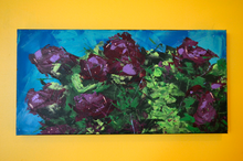 Violet Rhododendrons by Doug Belding on the wall.