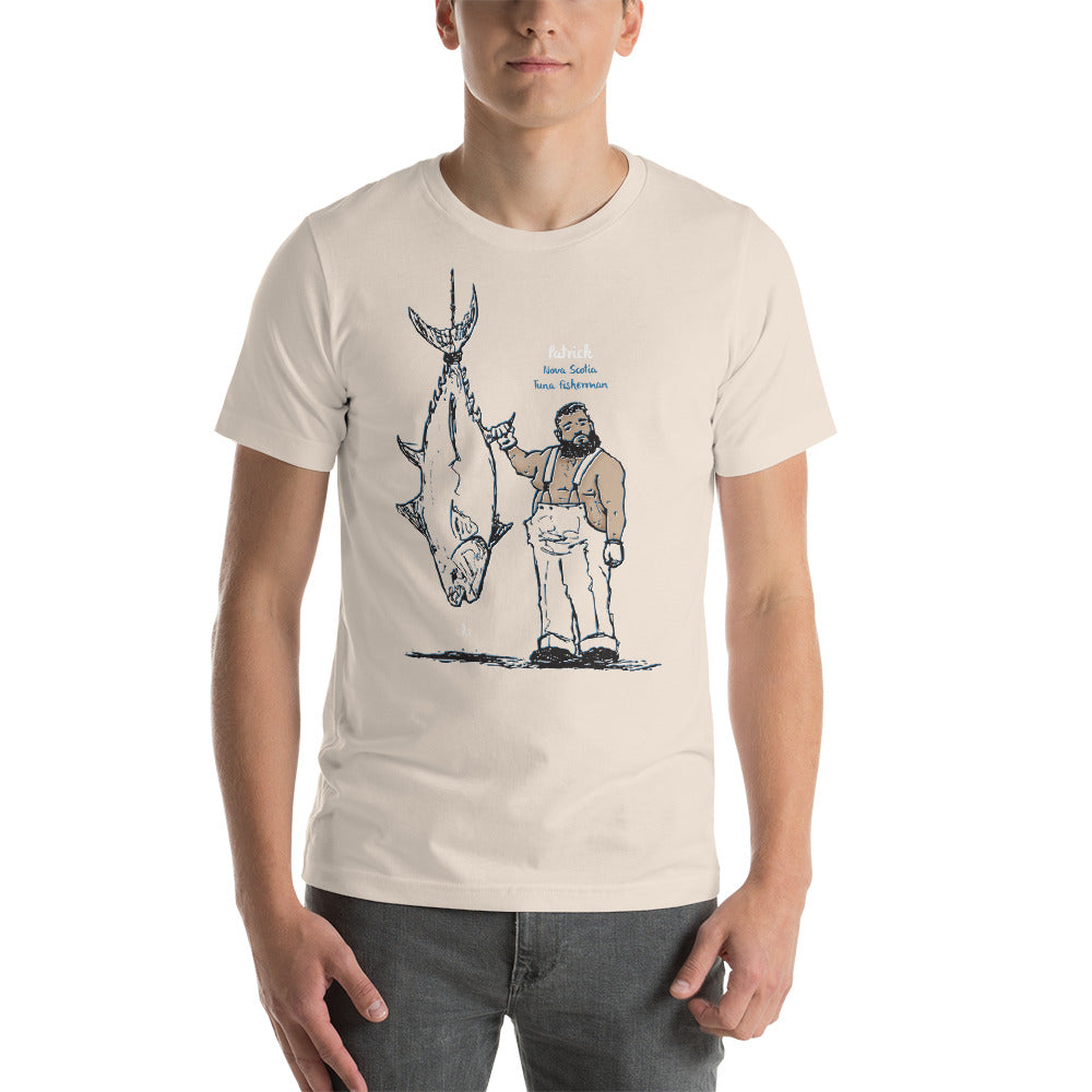 Patrick the Nova Scotia Tuna Fisherman Short-Sleeve Unisex T-Shirt