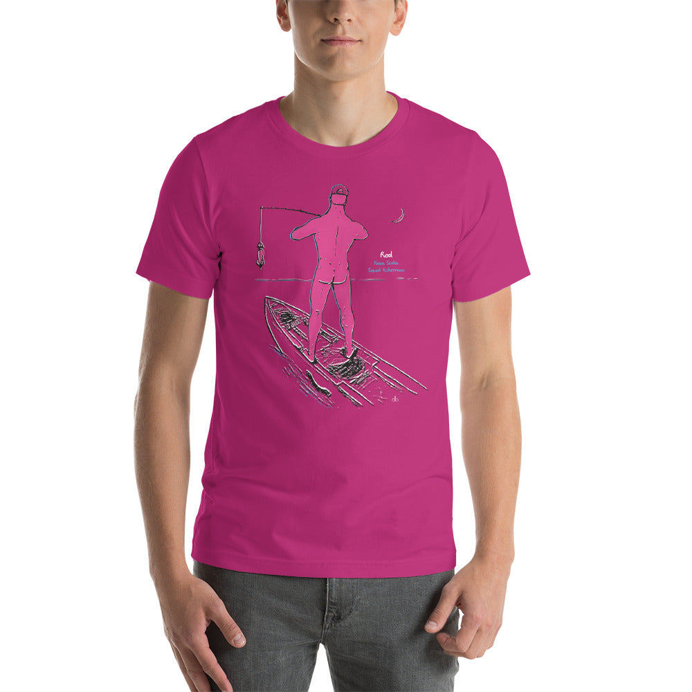Rod the Nova Scotia Squid Fisherman Short-Sleeve Unisex T-Shirt