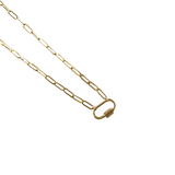 Dainty Gold Mini Carabiner Lock Necklace