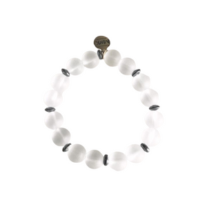 Frosted Agate Stretch Bracelet