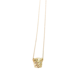 Gold Bulldog Necklace