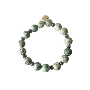 Green Tree Agate Stretch Bracelet