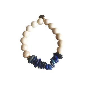 Sodalite and Jasper Stretch Bracelet