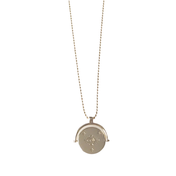 Lucky Eye Medallion Necklace