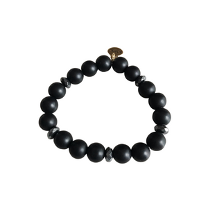 Black Agate Stretch Bracelet