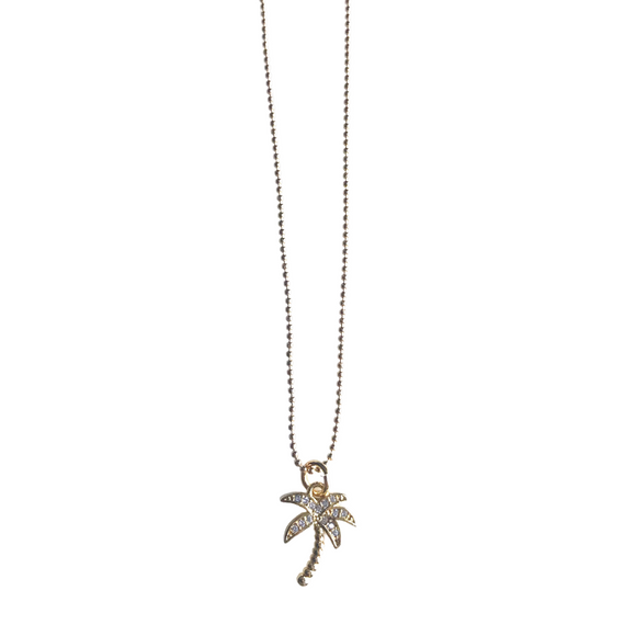 Palm Tree Charm Necklace