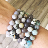 Gray Agate Stretch Bracelet