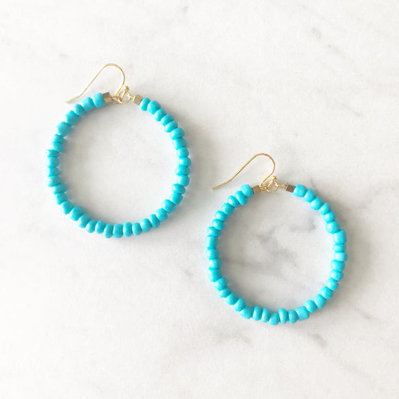 Cabo Beaded Earrings - Turquoise