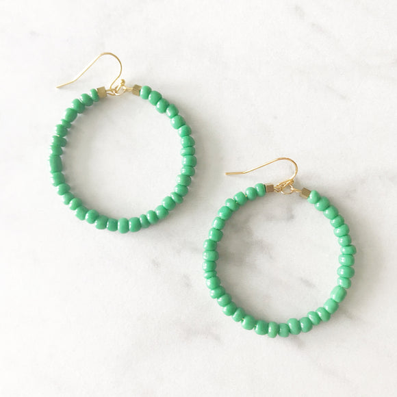 Cabo Beaded Earrings - Kelly Green