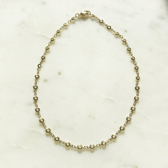 Golden Sun Choker Necklace